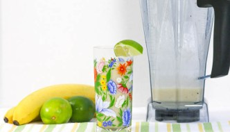 Put the rum with the coconut, add frozen bananas and lime, and THEN mix it all up to get Coconut Banana Rum Smoothie! Incredibly refreshing alcoholic drink!