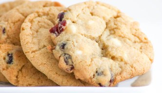 Cranberry White Chocolate Chip Cookies celebrate the happiest time of the year! Perfect for holiday gifts. Make two batches because they are that good!