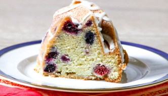 Raspberry Blueberry Bundt Cake