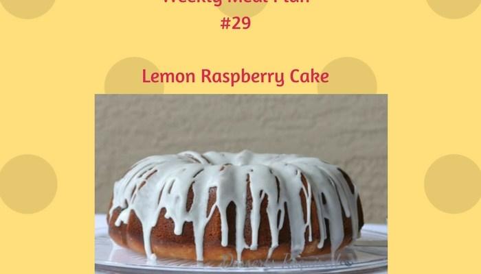 Weekly Meal Plan #29