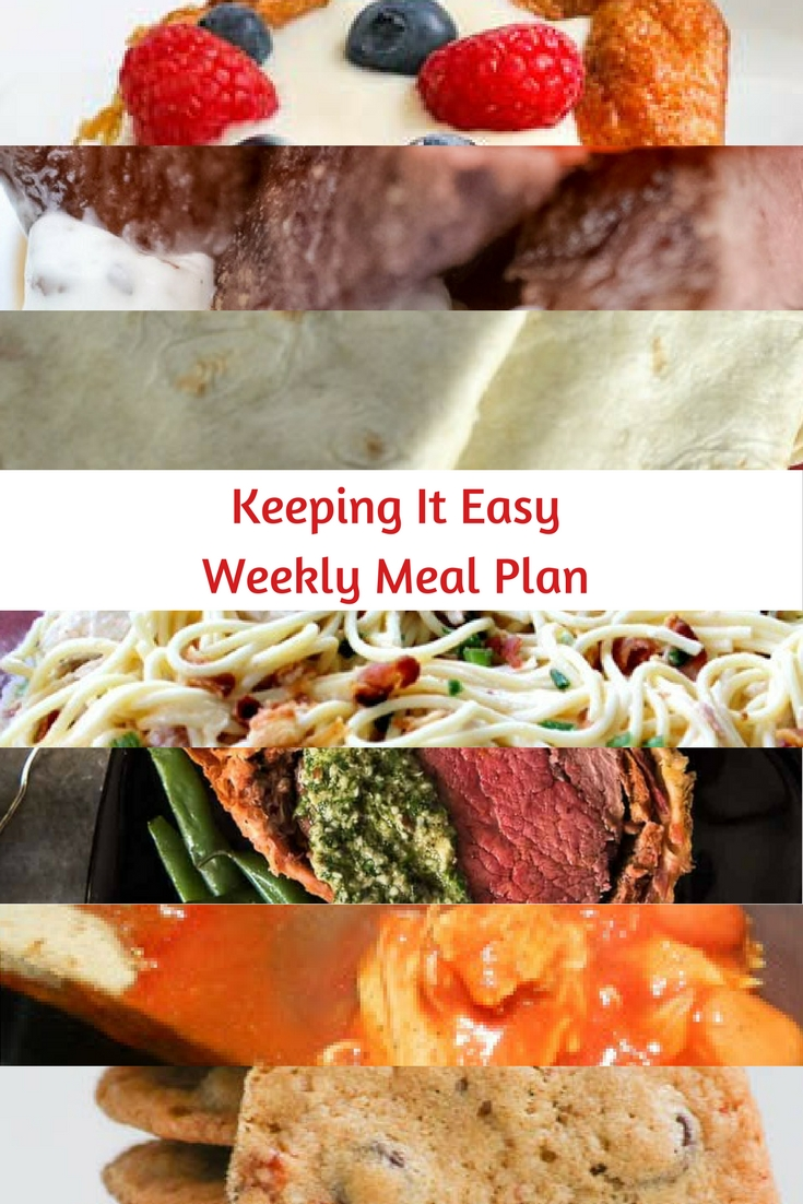 Weekly Meal Plan #51 is filled with delicious breakfast, lunch and dinner options. Save room for Bacon Chocolate Chip Cookies, too!