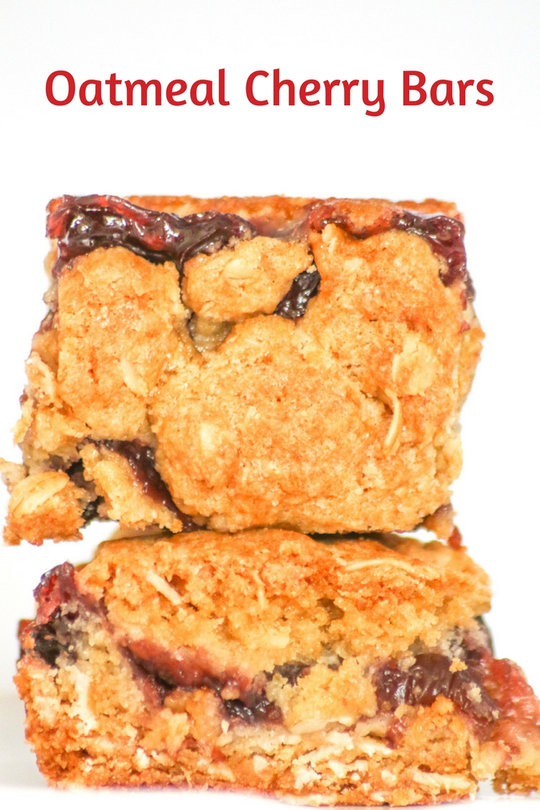 Oatmeal Cherry Bars are a delicious option when you're looking for a fresh healthy dessert that is perfect for spring time.