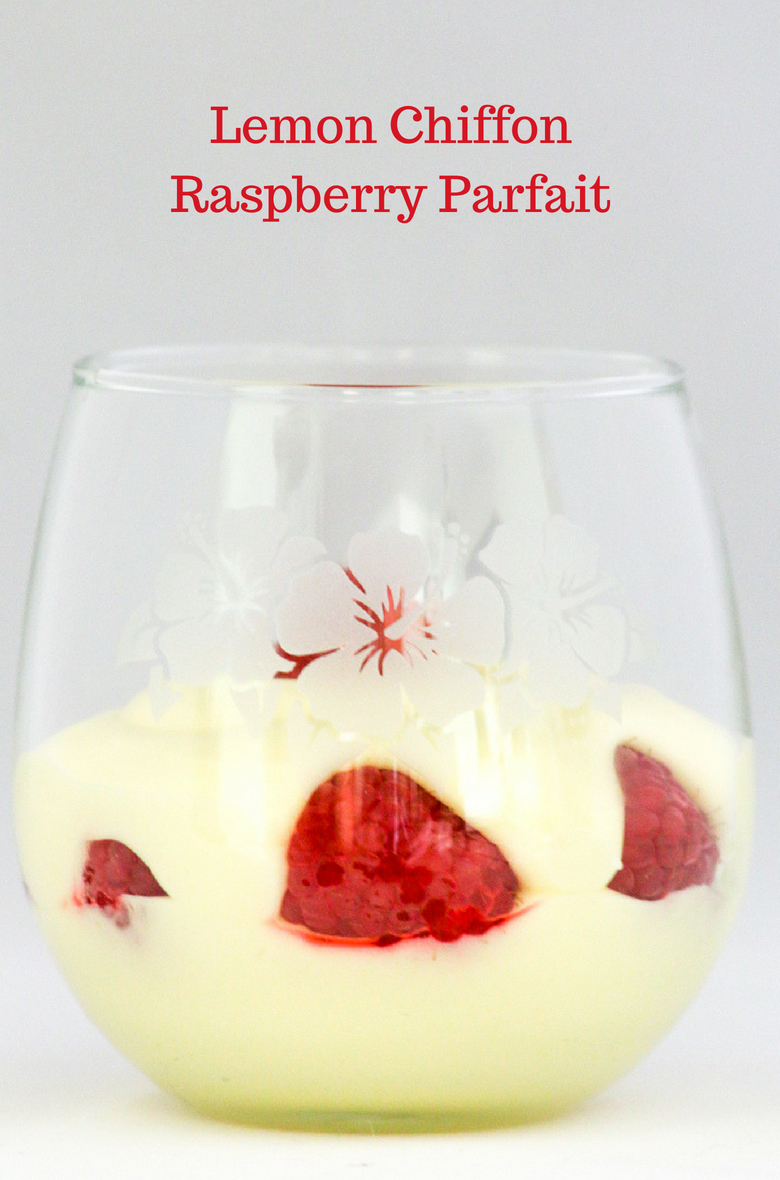 Lemon Chiffon Raspberry Parfait is a refreshing dessert that is perfect to celebrate #SummerDessertWeek. Light, airy and delicious.