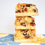 Coconut Cranberry Pineapple Bars are delightful for dessert. They are perfect for holiday cookie exchanges and parties or to enjoy year round.