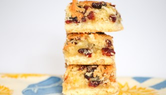 Coconut Cranberry Pineapple Bars