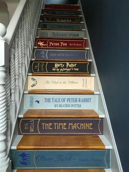 contre marche d'escalier décorées