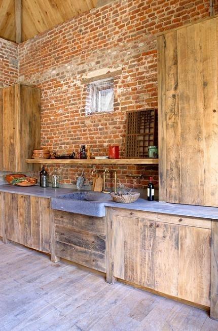 cuisine campagne bois brut