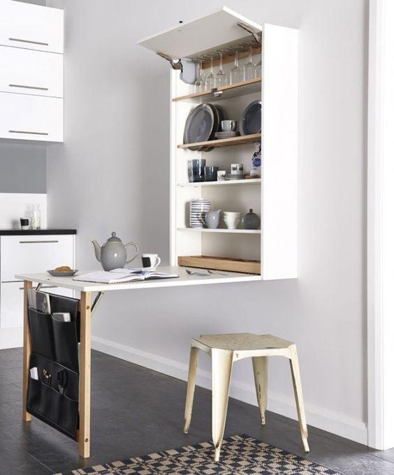 kitchenette meuble pliable table