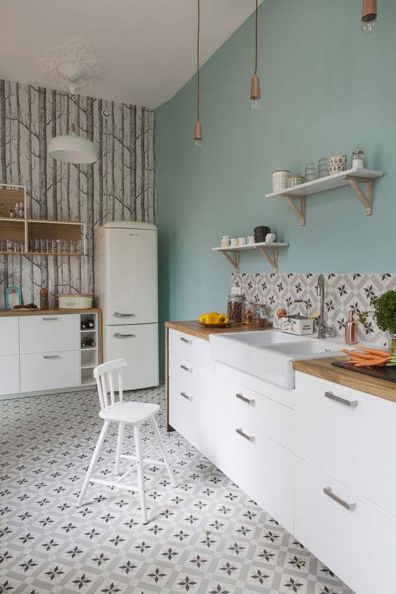 cuisine inspiration scandinave carreaux de ciment