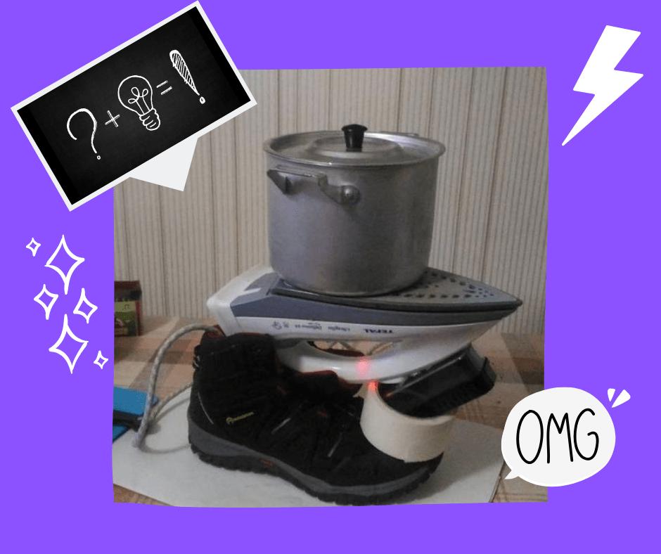 remplacer la plaque de cuisson par un fer à repasser