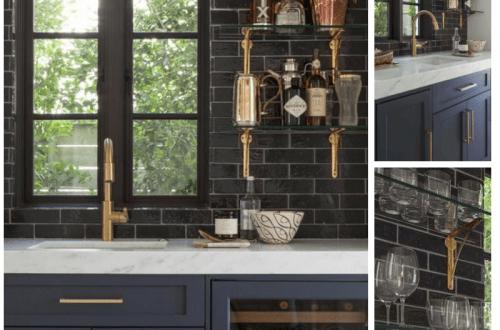 cuisine noire style cottage