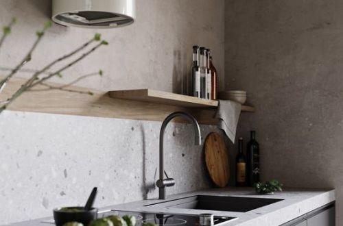 hotte cylindrique blanche pour cuisine zen