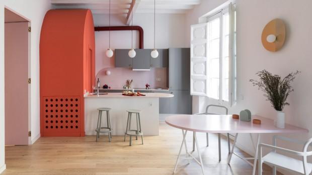 choisir mur d'accent de couleur chaude de sa cuisine