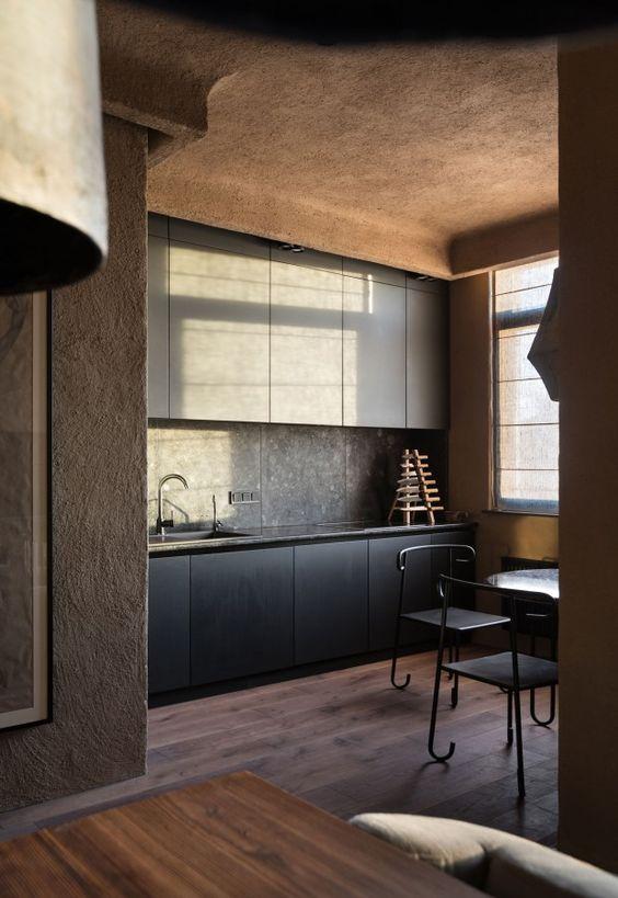 matériaux bruts et naturels pour une cuisine proche de la nature