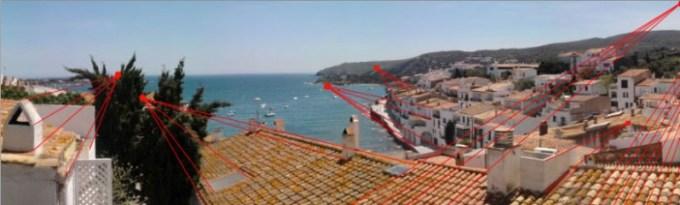 Les toits de Cadaqués en Espagne