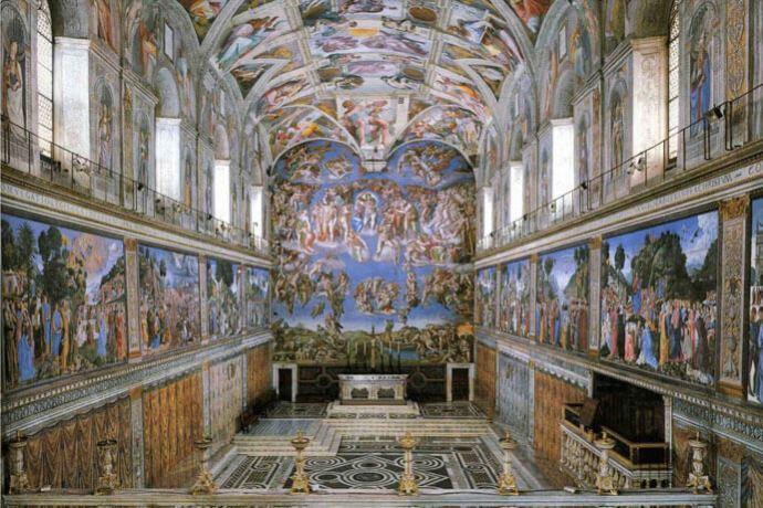 Chapelle Sixtine, Michel-Ange, inauguration en 1512