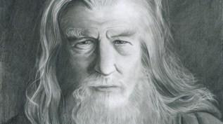 Graphite d'apres une photographie de Gandalf le gris