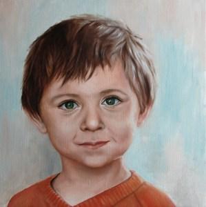 portrait d'enfant, peinture