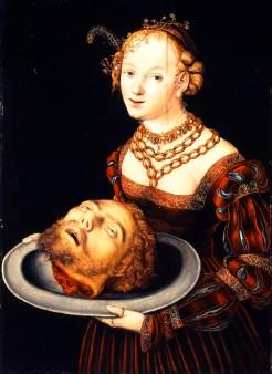 Salomé avec la tête de St Jean Baptiste Lucas Cranach