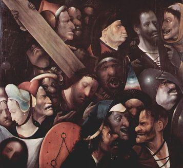 Le portement de croix attribué à l'entourage de Jérôme Bosch