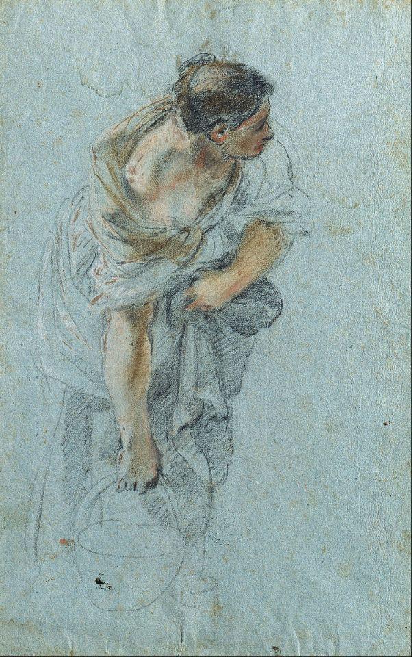 dessin, pastel, Etude de femme de Guillaume Courtois