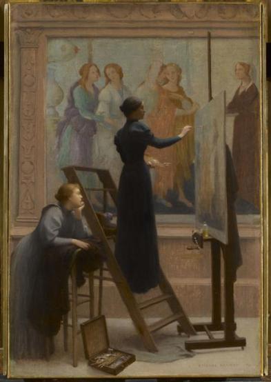 Au Louvre, 1894 d'E. Azambre