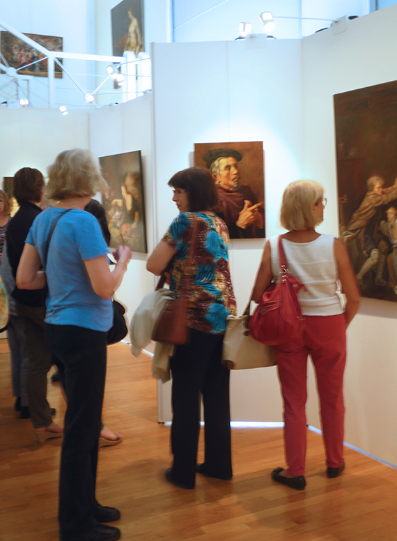 exposition des peintre copistes du Louvre