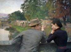 Emile Friant, les amoureux