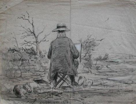 autoportrait de Louis-Marie Faudacq