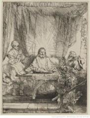 Les disciples d'Emmaüs de Rembrandt - 1654