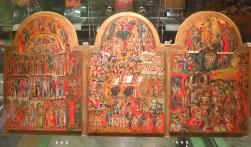 icone du Christ et de la Vierge - art Grec XVI triptyque