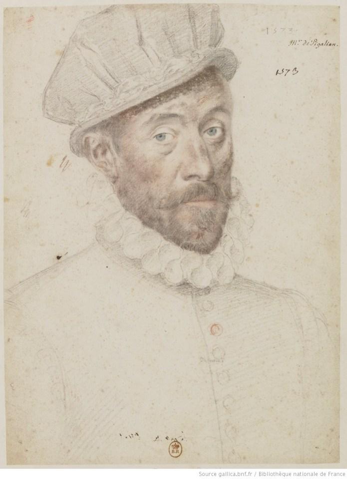 dessin, portrait,Quesnel, BNF