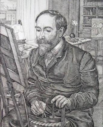 gravure portrait de Steinlen