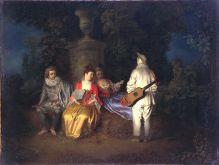 La partie carrée de Watteau