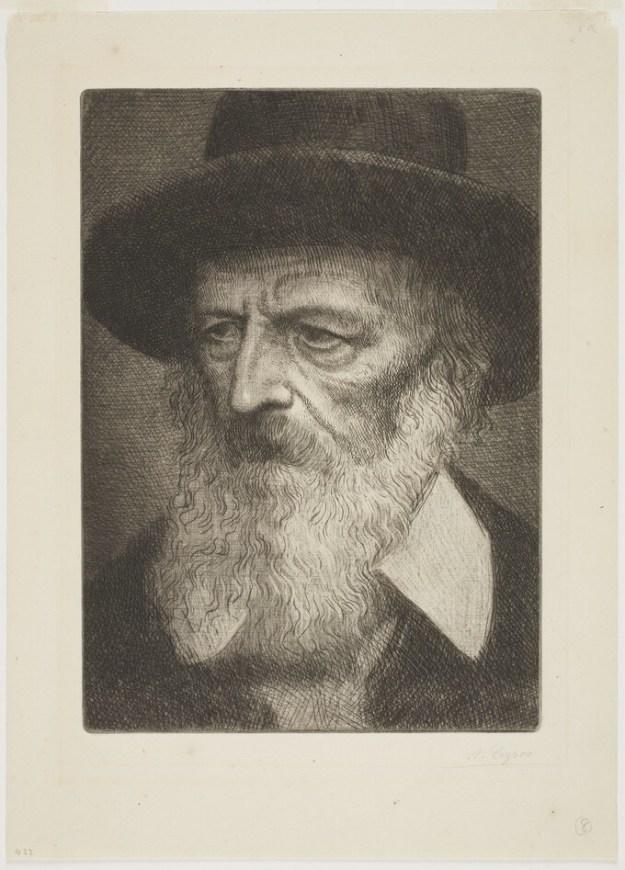 Portrait, eau forte et pointe sèche d'Alphonse Legros 1860