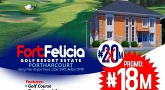 Land For Sale in Fort Felicia Golf Resort Estate, Port Harcourt