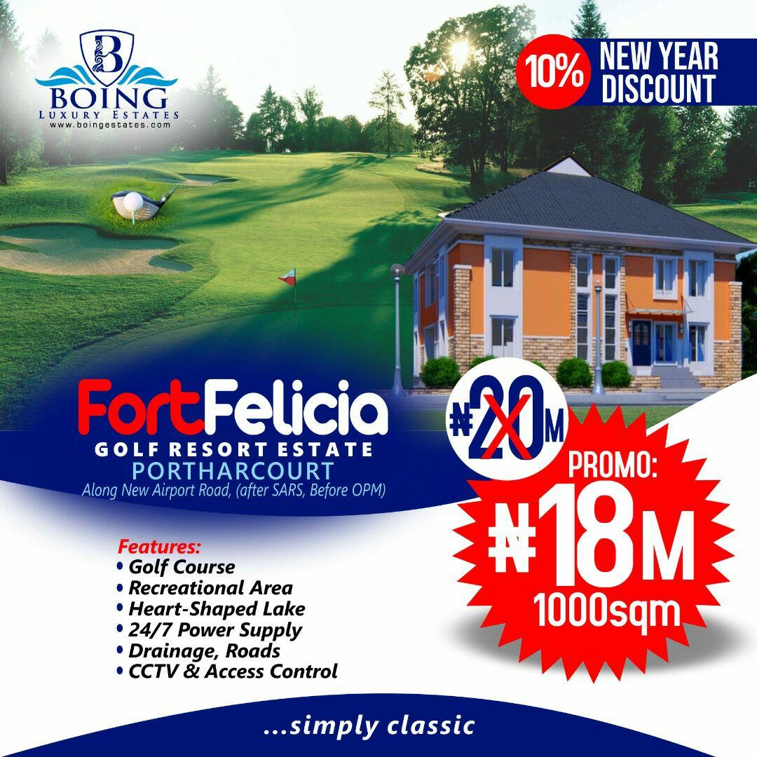 Land For Sale in Fort Felicia Golf Resort Estate, Port Harcourt
