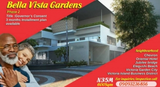 Land for Sale in Bella Vista Gardens Phase 2 inside Ikota Villa Estate, Lekki