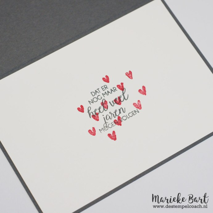 Text from Boeket Vol Goede Wensen and hearts from Heart Happiness Stamp Set by Stampin' Up!