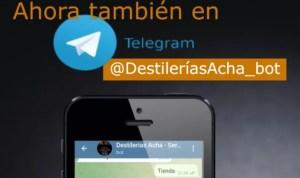 Tienda destilerías Acha en Telegram