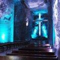 Cathédrale de sel au sein de la Parque de la sal (mine de sel) dans la région de Cundinamarca.