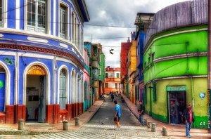 Rue typique du quartier de La Candelaria