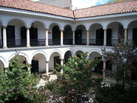 Patio du Musée Botero à Bogota