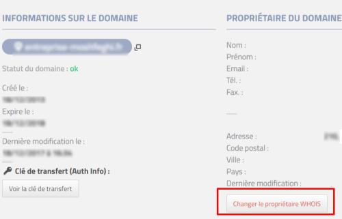 changement de propriétaire de nom de domaine chez phpnet