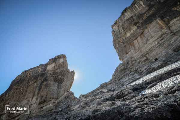 "Funambulism on ""La Brèche de Roland"" (France)"