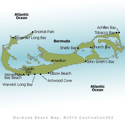 Bermuda Beaches Map