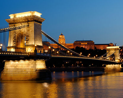Chain Bridge Budapest Szechenyi Bridge In Budapest Hungary