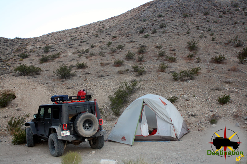 Out Camping Tent at Homestake Dry Camp - A privative campsite at Racetrack Valley