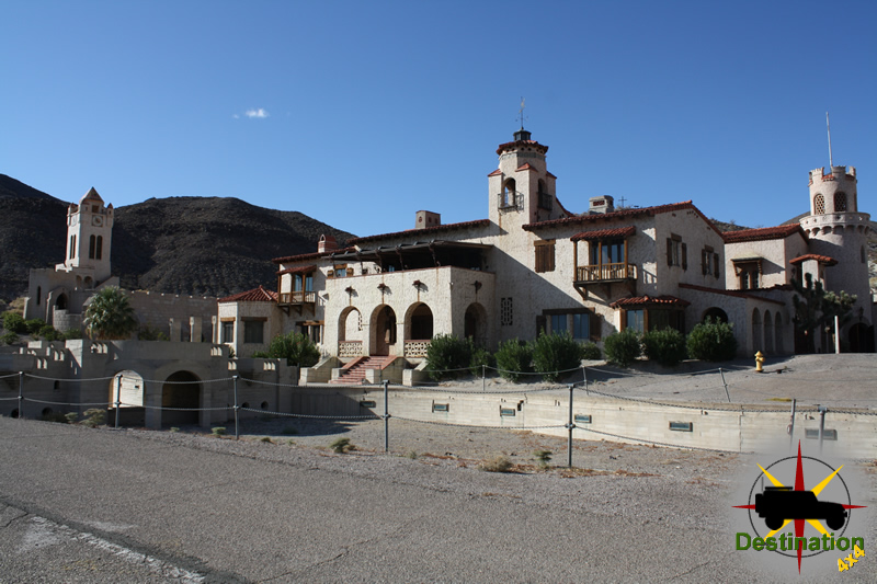 Scotty's Castle located in Grapevine Canyon in Death Valley.