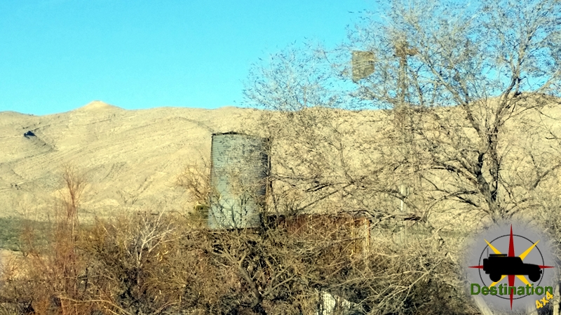 An old water tower located inside Goodspings, Nevada